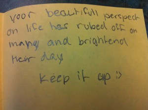 A FGF message from my final practicum class.