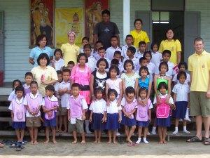 The entire school and preschool population, including teachers.
