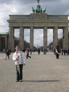 Here I am, at 16, in front of the Brandenbuerger Tor in Berlin.  Can we please talk about how amazing that puffy white Old Navy jacket is?!
