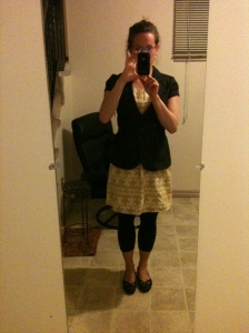 Mirror Selfie...top notch outfit, poor quality photo.