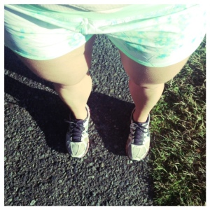Speedy new run shorts (and an excess of in class sitting time) helped me finish my 8k run last night!
