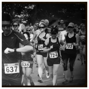 Ali and I getting started.  We ran the first 3k together and then she took off and finished in 57mins! So great for her first 10k!