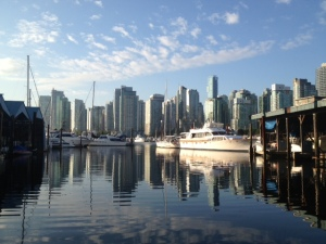 6.30am Race Day view at the Royal Vancouver Yacht Club.
