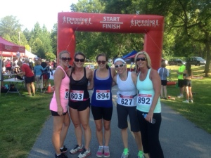 Post-race, happy 10k finishers!