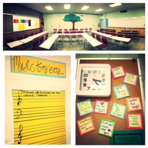 """While my friend worked on her classroom (three doors down from mine!), I started """"Karley-fying"""" my room.  I'm going for a theme of openness, communication, trust and gratitude (with a bit of plain ol' middle school hilarity in the mix)."""