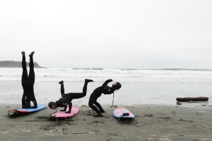 A pre-surf warm up in Tofino with my dear friends, Naomi and Olivia Keane. Check out the Keane Sisters and the amazing work they do HERE.
