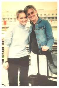 Tina and I, 16 years old, connecting in Germany for the first time!