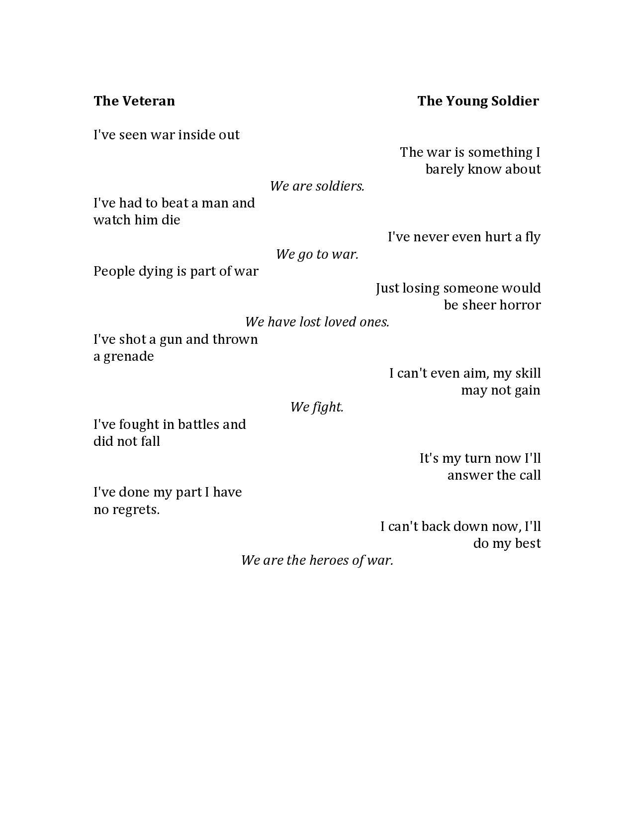 Veteran Poems 7