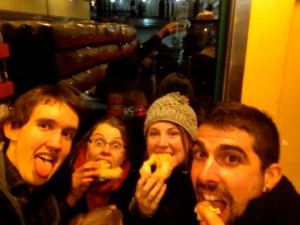 A mini-reunion with some Montreal bagels... November 2012