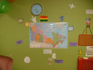 Our map of where we come from.