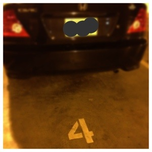 My parking spot is #4 too