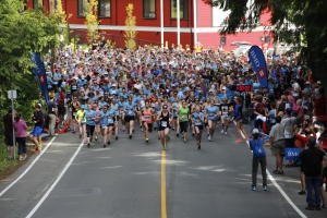 A sweet photo my husband took of the start line (5k) from The 2nd Annual Goddess Run, June 2013.