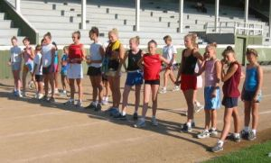 The track I despised during summer camp training circa 2000/2001ish.  I'm the fancy lady in the red t-shirt and white shorts (pre-lululemon explosion, so please forgive me).