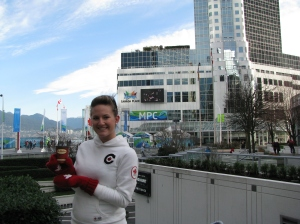 The coming together of our nation was absolutely incredible four years ago at the Vancouver Olympic Games.  Doesn't get better than Tim Hortons and Olympic mittens :)