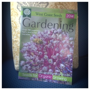 """I literally sang """"Hallelujah!"""" when I found this in a local grocery store the other day. Being the rookie gardener I am, I was all prepared to use 2013s copy of the seed catalogue. Good thing I found 2014s version though because there are some pumpkins we've never heard of before that we NEED to try..."""