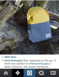 Photo cred: Herschel Supply Co.'s Instagram feed.