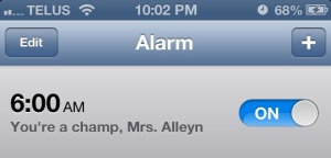 Even if that scheduled time means waking up when it's dark out to work on report cards.