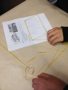 We had a guest speaker from Camosun College come in and speak to us about bridges and how they are built, etc.  Then we spent the entire morning building spaghetti bridges.