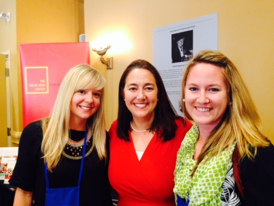 A happy moment meeting Erin Gruwell and getting our books signed by her.