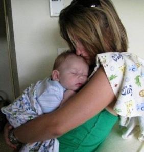Eight (ish) week old Ethan.  Again, Kindergarten!?