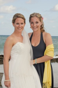 The lovely Elyse Dodge, best-friend-bridesmaid.