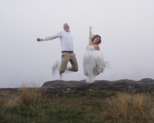 2013: Year 2 of Marriage, wedding clothes on.  This one was a race against the fog up on Rainbow Hill in Victoria.  Again, self time as the witness.